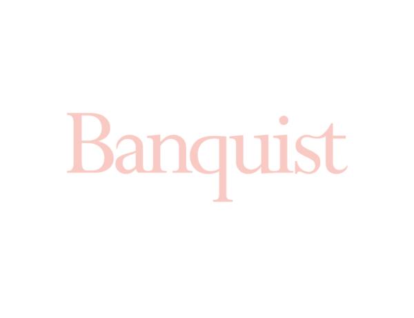 Banquist pink logo on white ground 01